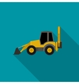 Tractor flat icon vector image