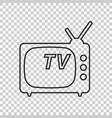 tv icon in line style isolated on isolated vector image vector image