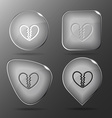 Unrequited love Glass buttons vector image vector image