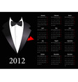 european calendar 2012 with elegant suit st vector | Price: 1 Credit (USD $1)