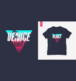 venice sunset graphic t-shirt design with palm vector image vector image