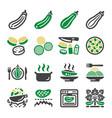 zucchini icon set vector image vector image