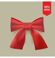 Realistic red bow vector image