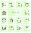 14 balance icons vector image vector image