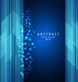 abstract blue square with sparkling light vector image