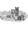 ahandy organic ant control for your home text vector image vector image