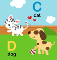 alphabet c d vector image vector image