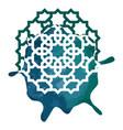 arabesque modern art sign round vector image