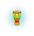 Atabaque musical instrument icon comics style vector image vector image