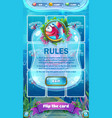 atlantis ruins gui - mobile format rules screen vector image vector image