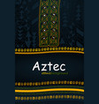 aztec or african hand-drawn ethnic background vector image vector image