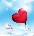 Balloon-hearts flying in the sky vector | Price: 1 Credit (USD $1)