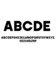 black simple universal font alphabet letters and vector image vector image
