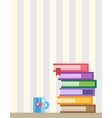 Books on desk Back to school Education objects vector image vector image
