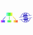 Bright dotted hierarchy icon and grunge 150