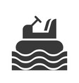 bumper boat icon amusement park related solid vector image vector image