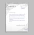 business letterhead card vector image vector image