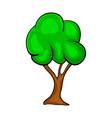 cartoon tree symbol icon design beautiful vector image vector image