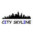 city skyline flat style vector image vector image