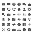contact solid web icons vector image vector image