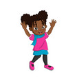 cute african american girl in fall clothes