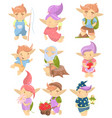 cute troll characters set funny creatures with vector image vector image