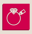 diamond sign with tag grayscale version vector image vector image