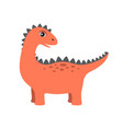 dinosaur with lots spikes vector image vector image