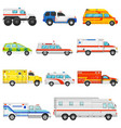 emergency vehicle ambulance transport and vector image vector image