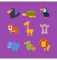 Exotic Animals Fauna Set vector image vector image
