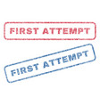 first attempt textile stamps vector image vector image