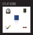 Flat icon appliance set of display receptacle