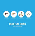 flat icon lawyer set of hammer court law and vector image vector image