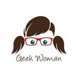 Geek woman vector image