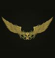 golden vampire skull vector image vector image