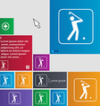 Golf icon sign buttons Modern interface website vector image vector image