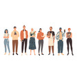 group people from creative professions modern vector image
