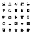 Hotel Services Icons 4 vector image vector image