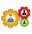 Human resources icon icon cartoon vector image