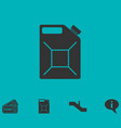 jerrycan oil icon flat vector image vector image