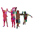 kids made from circles vector image vector image
