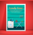 laundry service banner design vector image