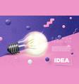 light bulb idea banner on abstract scene vector image