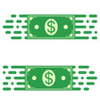 logo fast transfer money dollar bill fast motion vector image vector image