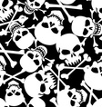 Lots of skulls vector image