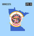 minnesota map border with flag eps10 vector image vector image