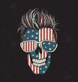modern american skull vector image vector image