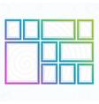 Modern bright frames set vector image vector image