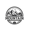 mountains logo design template vector image