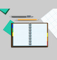 notebooke pen and pencil vector image vector image